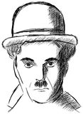 Sketch of Charlie Chaplin isolated Stock Photo