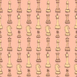 Sketch chess in vintage style Royalty Free Stock Photo