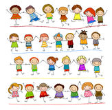 Sketch children Stock Image