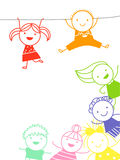 Sketch children Stock Photography