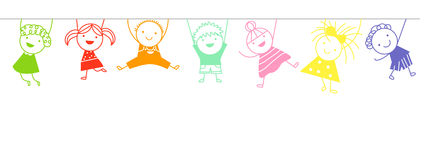 Sketch children Royalty Free Stock Images