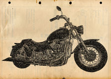 Sketch of a Chopper Royalty Free Stock Image