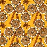 Sketch Christmas food decoration Stock Image