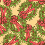 Sketch Christmas seamless pattern in vintage style Royalty Free Stock Photography
