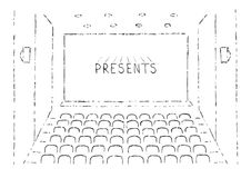 Sketch Of Cinema Hall Royalty Free Stock Images