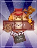Sketch cinema poster Royalty Free Stock Photo
