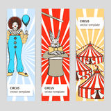 Sketch circus, rabbit and clown Stock Image