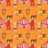Sketch circus  in vintage style Stock Photography