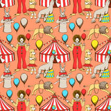 Sketch circus in vintage style Stock Photos