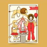 Sketch circus in vintage style Royalty Free Stock Image