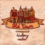 Sketch city background Royalty Free Stock Photo