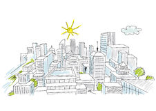 Sketch of a city Stock Photography
