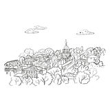Sketch of the city. Doodle cityscape Stock Image