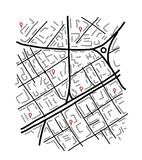 Sketch of city map for your design Stock Image