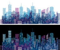Sketch cityscape Stock Image
