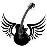 Guitar with wings. Stock Images