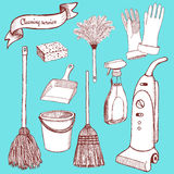 Sketch cleaning set Stock Photo