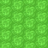 Sketch clover,   seamless pattern, saint Patrick day symbo Royalty Free Stock Image