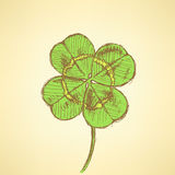 Sketch clover, vector background, saint Patrick day Royalty Free Stock Photos