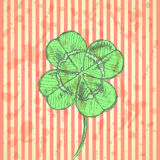 Sketch clover, vector background, saint Patrick day Stock Images