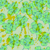 Sketch clover, vector  seamless pattern, saint Patrick day symbo Stock Images