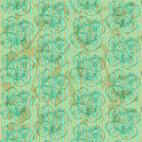 Sketch clover, vector  seamless pattern, saint Patrick day symbo Royalty Free Stock Photography