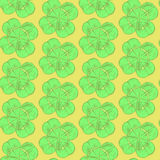 Sketch clover, vector  seamless pattern, saint Patrick day symbo Stock Photography