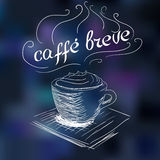 Sketch of coffee breve Stock Photography