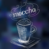 Sketch of coffee mocha Royalty Free Stock Image