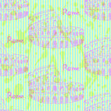 Sketch Coliseum, vector vintage seamless pattern Royalty Free Stock Images