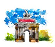 Sketch collection, Triumph Arch in London sketch Stock Image