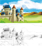 The sketch coloring page with preview Stock Photography