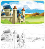 The sketch coloring page with preview Royalty Free Stock Photo