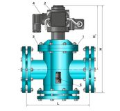 Sketch. Construction drawings. Metal construction. Pipes, piping. Gas shut-off valve Royalty Free Stock Photography