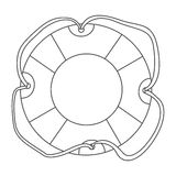 Sketch contour flotation hoop with rope Royalty Free Stock Photos