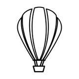 Sketch contour hot air balloon icon Stock Photography