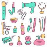 Sketch cosmetics Royalty Free Stock Photo