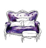 sketch of cozy interior elements. Royalty Free Stock Photography