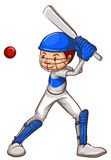A sketch of a cricket player Stock Photos
