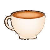sketch cup coffee porcelain design Royalty Free Stock Photography