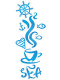 A sketch of cup of sea. Vector illustration of a sketch of cup of sea Royalty Free Stock Images