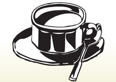 Sketch of cup of tea or coffee Royalty Free Stock Photos
