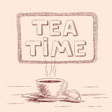 Sketch of cup of tea Stock Photo