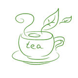 Sketch of a cup of tea Stock Images