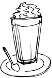 Sketch cup whipping cream Stock Images