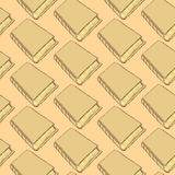 Sketch cute book seamless pattern Royalty Free Stock Photography