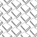 Sketch cute book seamless pattern Royalty Free Stock Image