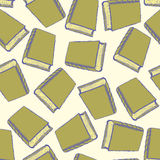 Sketch cute book seamless pattern Royalty Free Stock Photos