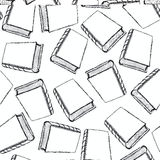 Sketch cute book seamless pattern Stock Images