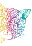 Sketch of the cute cat is peeping. Royalty Free Stock Photos